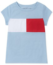 Tommy Hilfiger Big Girls Pieced Flag T-Shirt 331b7aa882ce9