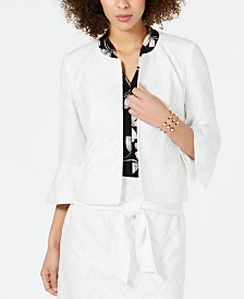 Nine West Bell-Sleeve Jacket