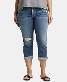 Plus Size Elyse Capri Jeans