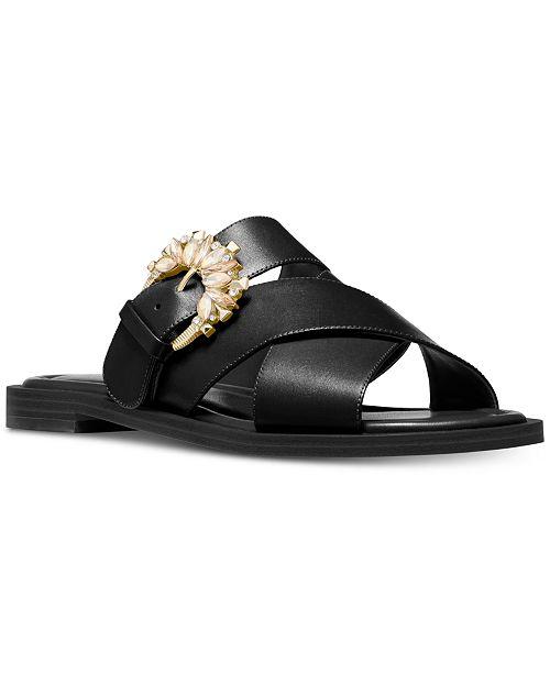 7e4376dcad8 Michael Kors Frieda Slide Flat Sandals   Reviews - Sandals   Flip ...