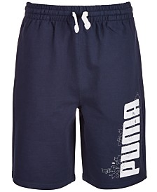 Puma Big Boys Retro French Terry Logo Shorts