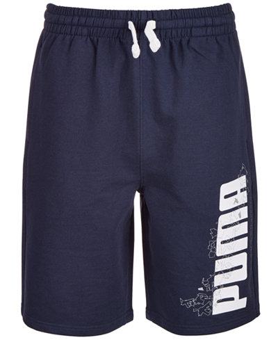 Puma Big Boys Retro French Terry Logo Shorts