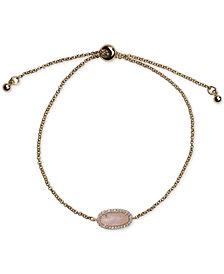 Kitsch Gold-Tone Pavé & Stone Guiding Gems Slider Bracelet