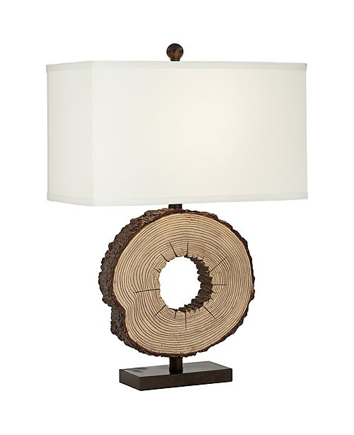 Pacific Coast Faux Round Wood Table Lamp
