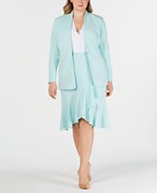 Calvin Klein Plus Size Jacket & Ruffled Skirt