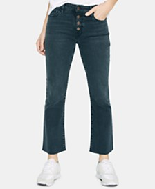Sanctuary Connector Kick-Crop Button Front Capri Jeans