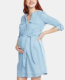 Motherhood Maternity Chambray Shirtdress