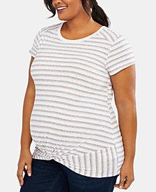 Motherhood Maternity Plus Size Twist-Front T-Shirt