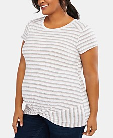 Motherhood Maternity Plus Size Twist-Front T-Shirt