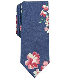 Bar III Men's Floral Tie, Created for Macy's