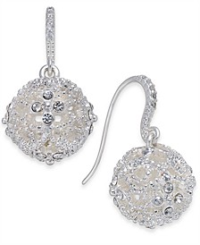Silver-Tone Crystal Filigree Ball Drop Earrings, Created for Macy's