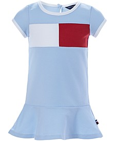 Baby Girls Colorblocked Flag Logo Knit Dress