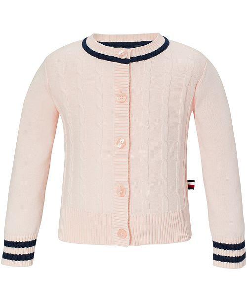 Tommy Hilfiger Baby Girls Cable-Knit Cotton Cardigan