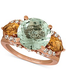 Multi-Gemstone (7-1/5 ct. t.w.) & Nude Diamond (5/8 ct. t.w.) Ring in 14k Rose Gold