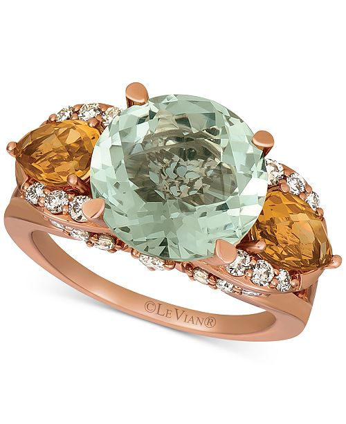 Le Vian Multi-Gemstone (7-1/5 ct. t.w.) & Nude Diamond (5/8 ct. t.w.) Ring in 14k Rose Gold