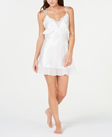Linea Donatella Heirloom Bridal Satin Chemise Nightgown