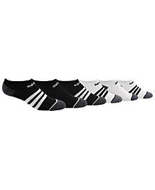adidas Little & Big Boys 6-Pack 3-Stripe No-Show Socks
