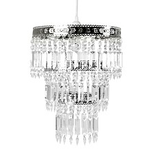 Tadpoles Faux-Crystal and Chrome Queen's Crown Pendant Large