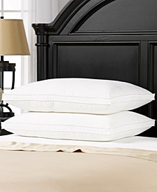 Soft Plush Gusseted Soft Gel Filled Stomach Sleeper Pillow - Set of Two - Queen
