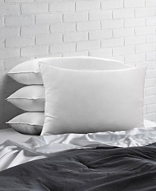 Overstuffed Plush Allergy Resistant Gel Filled Side/Back Sleeper Pillow - Set of Four - Standard