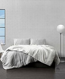 Reversible Brushed Microfiber Plush Down-Alternative Comforter 3 Piece Set - Full/Queen