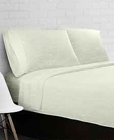 Heather Jersey Knit 4-Piece Sheet Set - Full