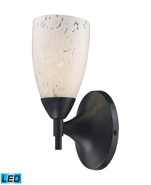 ELK Lighting Celina 1-Light Sconce in Dark Rust and Snow White Glass - LED Offering Up To 800 Lumens (60 Watt Equivalent)