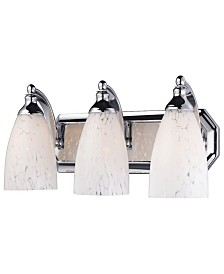 Vanity 3-Light Chrome Linear with Snow White Glass