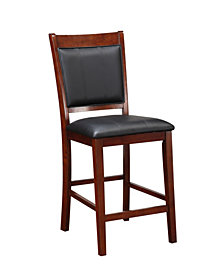 Benzara Elegant Wooden Armless High Chair, Set of 2