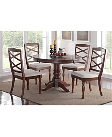 Benzara Rubber Wood Dining Chair with Designer Back, Set of 2