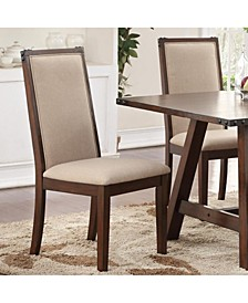 Set of 2 Comfortable Rubber Wood Dining Chair