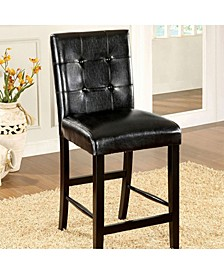 Contemporary Style Counter Height Chair, Set of Two