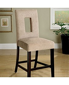 Contemporary Counter Height Chair with Fabric, Set of 2