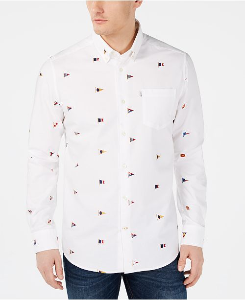 Barbour Men's Slim-Fit Nautical Embroidered Oxford Shirt