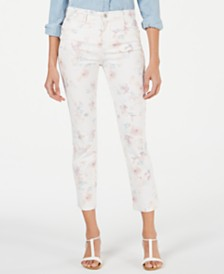Style & Co Petite Tummy-Control Printed Skinny Pants, Created for Macy's