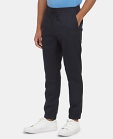 Kenneth Cole New York Men's Side-Stripe Drawstring Jogger Pants