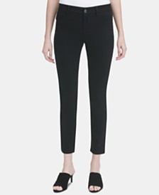 Calvin Klein 4-Pocket Straight-Leg Pants