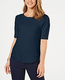 Cotton Short-Sleeve Sweater, Created for Macy's