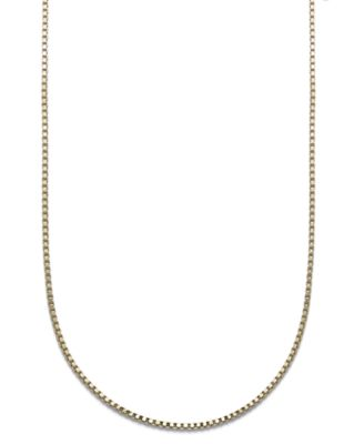 "18K Gold over Sterling Silver Necklace, 18"" Box Chain"