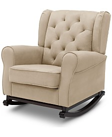 Emma Upholstered Rocking Chair, Quick Ship