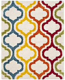 "Safavieh Shag Kids Ivory and Multi 8'6"" x 12' Area Rug"