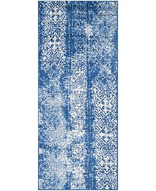 "Adirondack Silver and Blue 2'6"" x 8' Runner Area Rug"