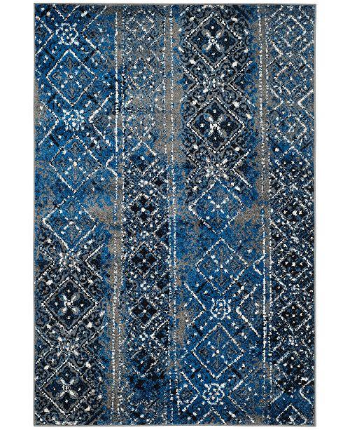 Safavieh Adirondack Silver and Multi 4' x 6' Area Rug