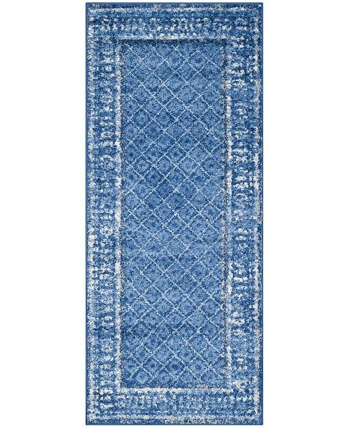 "Safavieh Adirondack Light Blue and Dark Blue 2'6"" x 22' Area Rug"