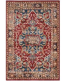 Bijar Red and Royal 4' x 6' Area Rug