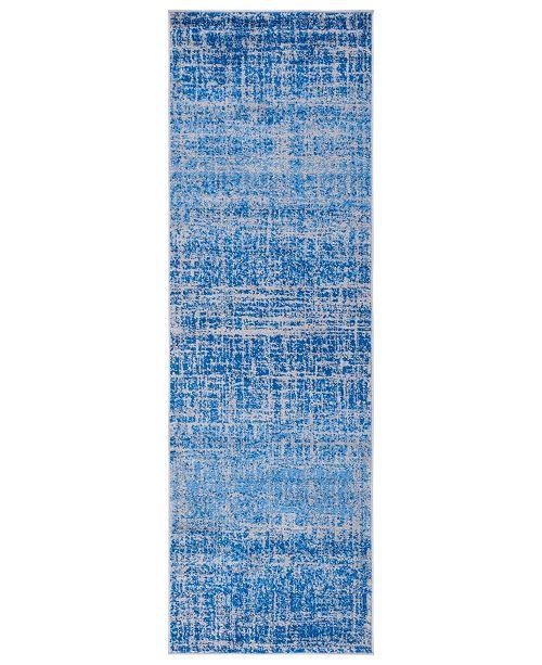 "Safavieh Adirondack Blue and Silver 2'6"" x 12' Runner Area Rug"