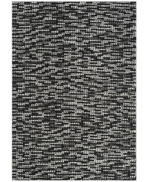 """Safavieh Porcello Light Gray and Charcoal 2'7"""" x 5' Area Rug"""