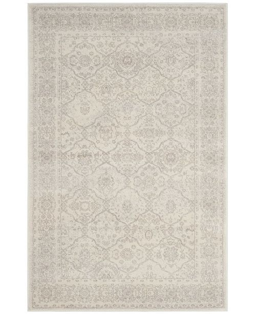 Safavieh Carnegie Cream and Light Gray 3' x 5' Area Rug