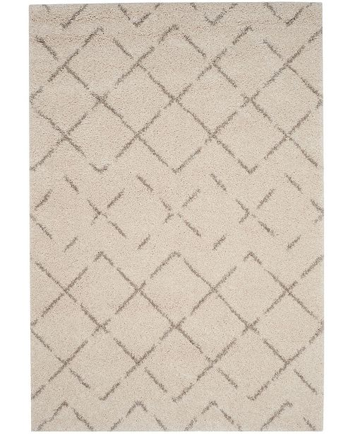 Safavieh Arizona Shag Ivory and Beige 4' x 6' Area Rug