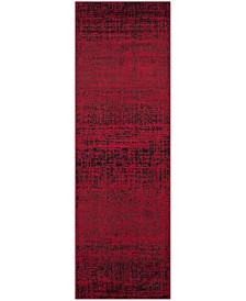 "Safavieh Adirondack Red and Black 2'6"" x 22' Area Rug"